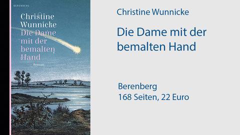 """Cover Christine Wunnicke  """"Die Dame mit der bemalten Hand"""""""