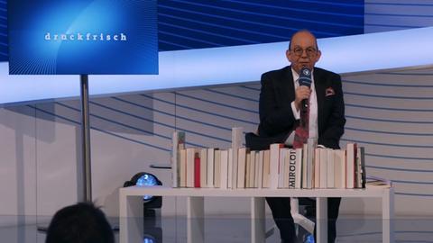 Denis Scheck auf der ARD Bühne der Frankfurter Buchmesse