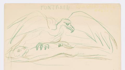 Edvard Munch Text und Zeichnung