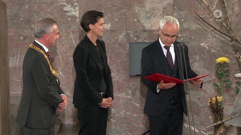 Friedenspreis 2016 - Übergabe der Urkunde