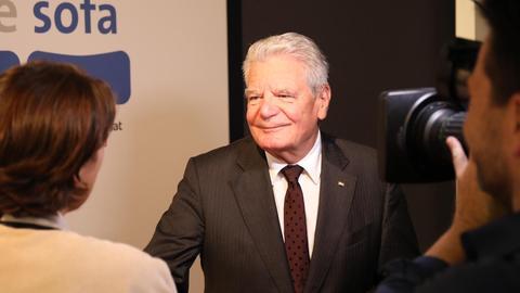 Joachim Gauck auf der Buchmesse
