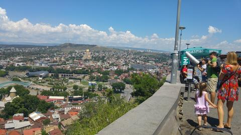 Blick vom Berg auf die Stadt