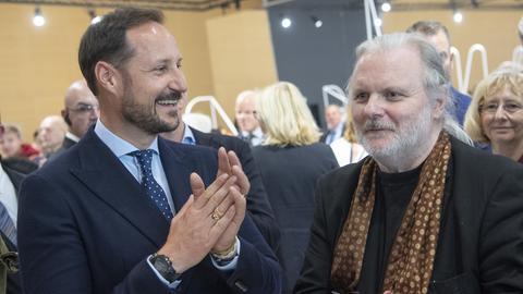 Kronprinz Haakon und Jon Fosse