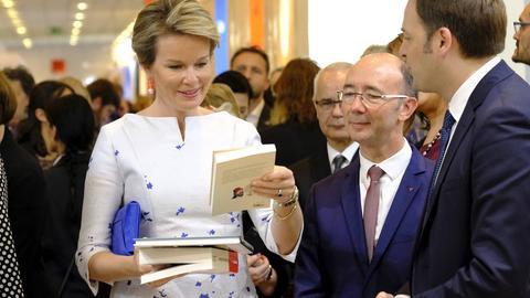 Königin Mathilde von Belgien auf der Frankfurter Buchmesse
