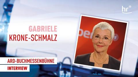 Gabriele Krone-Schmalz ARD-Buchmessenbühne