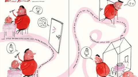"""Ausschnitt aus dem Buch """"Lyrik-Comics"""""""