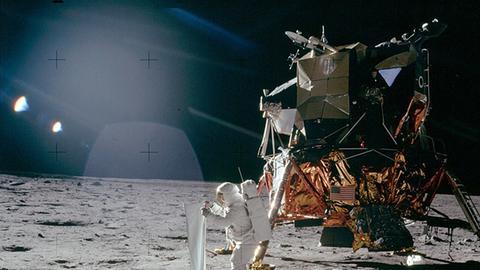 Astronaut Mondlandung