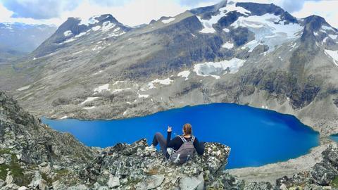 Norwegen Aussicht auf einen See