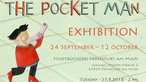 Einladungsplakat zur Ausstellung Pocket Man