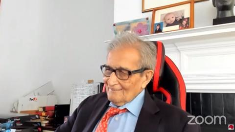 Amartya Sen im Zoom-Chat mit Journalisten