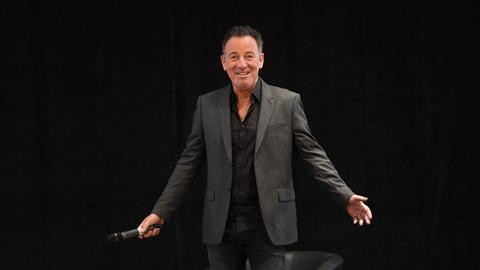 Der US-amerikanische Rockmusiker Bruce Springsteen am Donnerstag in Frankfurt