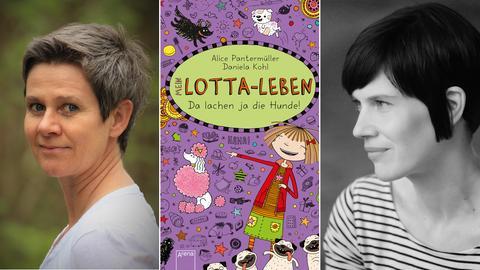 """Buchcover """"Mein Lotta-Leben"""" und die Autorinnen Alice Pantermüller und Daniela Kohl"""