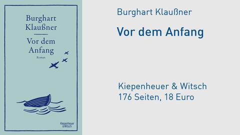 """Buchcover Burghart Klaußner """"Vor dem Anfang"""""""