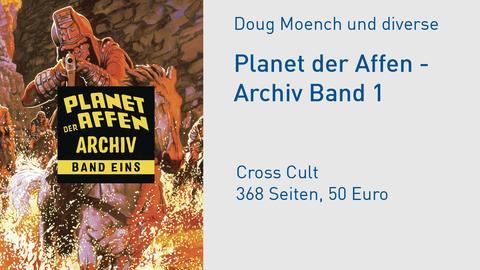 """Buchcover Doug Moench und diverse """"Planet der Affen, Archiv Band 1"""""""