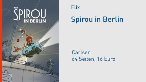 """Buchcover Flix """"Spirou in Berlin"""""""