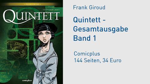 """Buchcover Frank Giroud """"Quintett - Gesamtausgabe Band 1"""""""