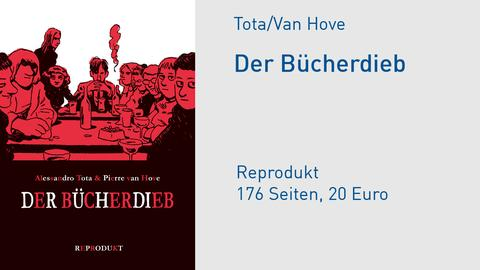 "Buchcover Alessandro Tota/Pierre van Hove ""Der Bücherdieb"""