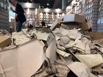 Buchmesse 2019 Dienstag Aufbau