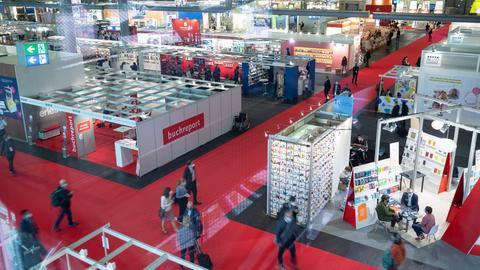 Hallen in der Buchmesse
