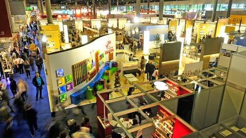 Blick in Halle 3 der Frankfurter Buchmesse