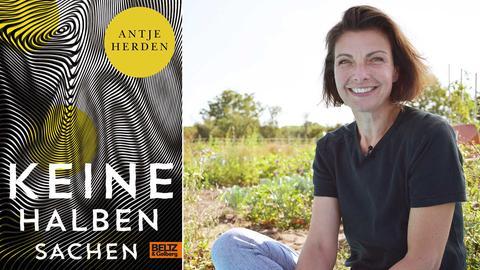 Die Kombo zeigt links das Cover des Buches, das Antje Herden geschrieben hat. Ein Portrait von ihr ist rechts zu sehen.
