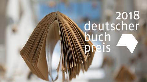 Buch mit Logo des Deutschen Buchpreises 2018