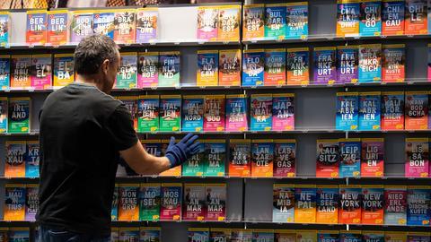 Reiseführer auf Buchmesse