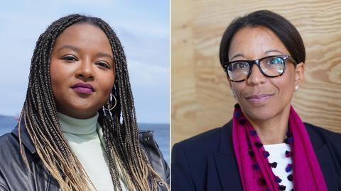 Collage: Aminata Touré und Janina Kugel