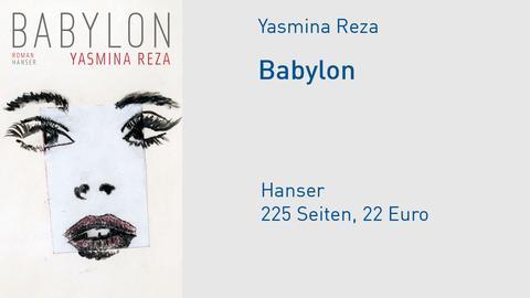 "Cover Yasmina Reza ""Babylon"""