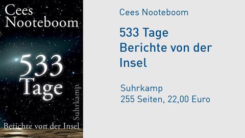 """Cover Cees Nooteboom """"533 Tage. Berichte von der Insel"""""""