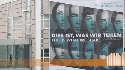 Plakat auf der Buchmesse: Dies ist, was wir teilen