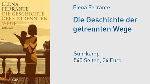 """Cover Elena Ferrante """"Die Geschichte der getrennten Wege"""""""
