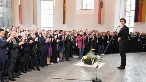Publizistin Carolin Emcke bei der Verleihung des Friedenspreises in der Paulskirche