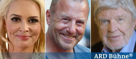 Daniela Katzenberger, Heino Ferch und Hardy Krüger