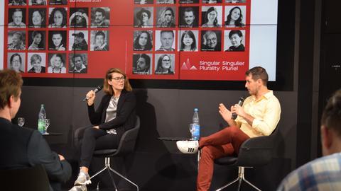 Jennifer-Ann Weir, Associate Executive Director von Canada FBM2021 und Gonzalo Soldi, Kreativdirektor