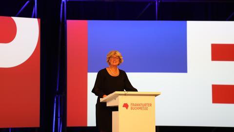 Monika Grütters bei der Buchmessen-Eröffnung 2020 in der Festhalle
