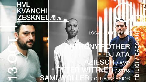 Bassiani Resident DJs HVL, Kvanchi und Zesknel