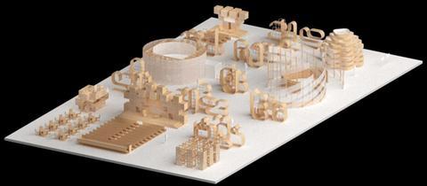 Entwurf für den Ehrengast-Pavillon Georgien für die Frankfurter Buchmesse 2018