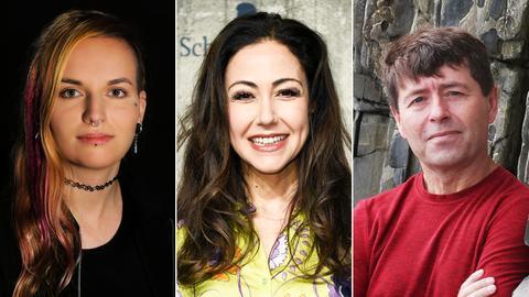 Isabell Beer, Anastasia Zampounidis und Michael Crummey sind am Sonntag dabei.