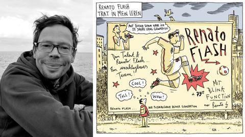 """Philip Waechter und sein Comic """"Toni - und alles nur wegen Renato Flash"""""""