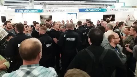 Polizei auf Messe