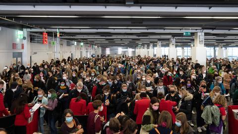 Publikum auf der Buchmesse