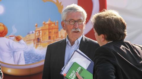 Der umstrittene SPD-Politiker Thilo Sarrazin auf der Buchmesse.