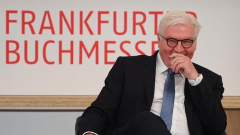 Bundespräsident Frank-Walter Steinmeier auf der Buchmesse.