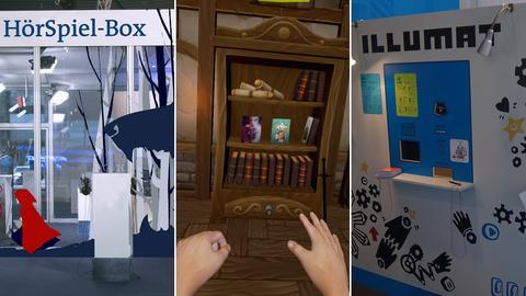 Interaktives auf der Buchmesse: Hörspielbox, Virtual-Reality-Welten und Illumat