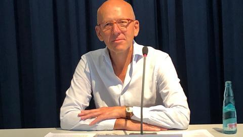 Der Gründungsdirektor des documenta-Instituts, Heinz Bude, bei der Vorstellung in Kassel