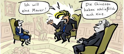 Cartoon von Kittyhawk