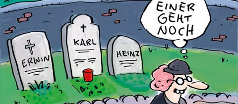 Karikatur zum Thema Tod