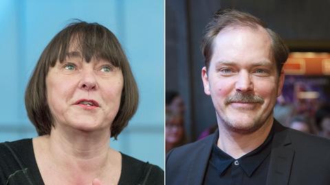Zwei Portraits der Schauspieler Steffi Kühnert und Godehard Giese.