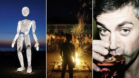 Collage aus verschiedenen Veranstaltungen bei der Nacht der Museen.